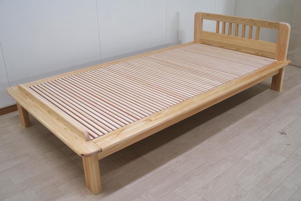 和室畳に似合う オーダーヘリ付きシングルベッド 1905011
