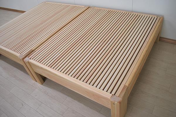 ひのき伸長ベッド 伸縮するベッド