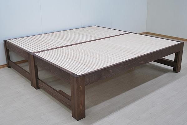 オーダーベッド シングルと伸縮ベッドの並列 幅242cm NO1910044