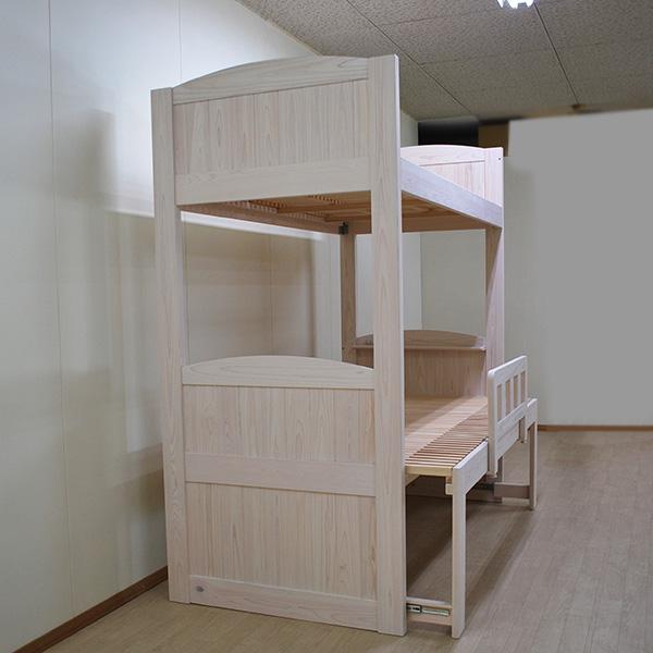 上段シングル下段セミダブル伸縮ミドルベッドの オーダー二段ベッド NO2001044