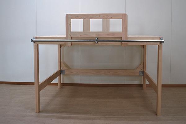どこでも柵と外にパイプを設置したセミダブルロフトベッド2006020