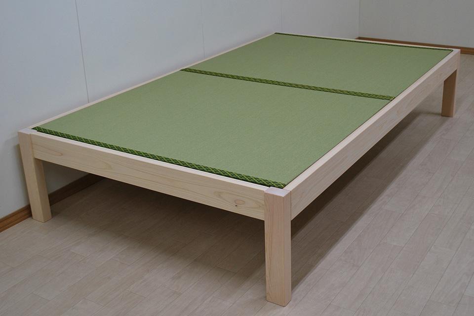 シンプルなフラット畳ベッド セミダブルサイズ 2011023