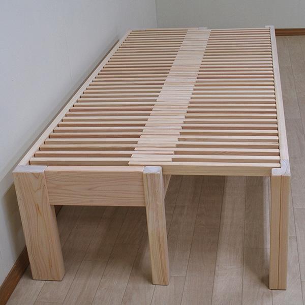 ひのき広がるベンチ ひのき伸縮ベッド セミシングルサイズ 2010063