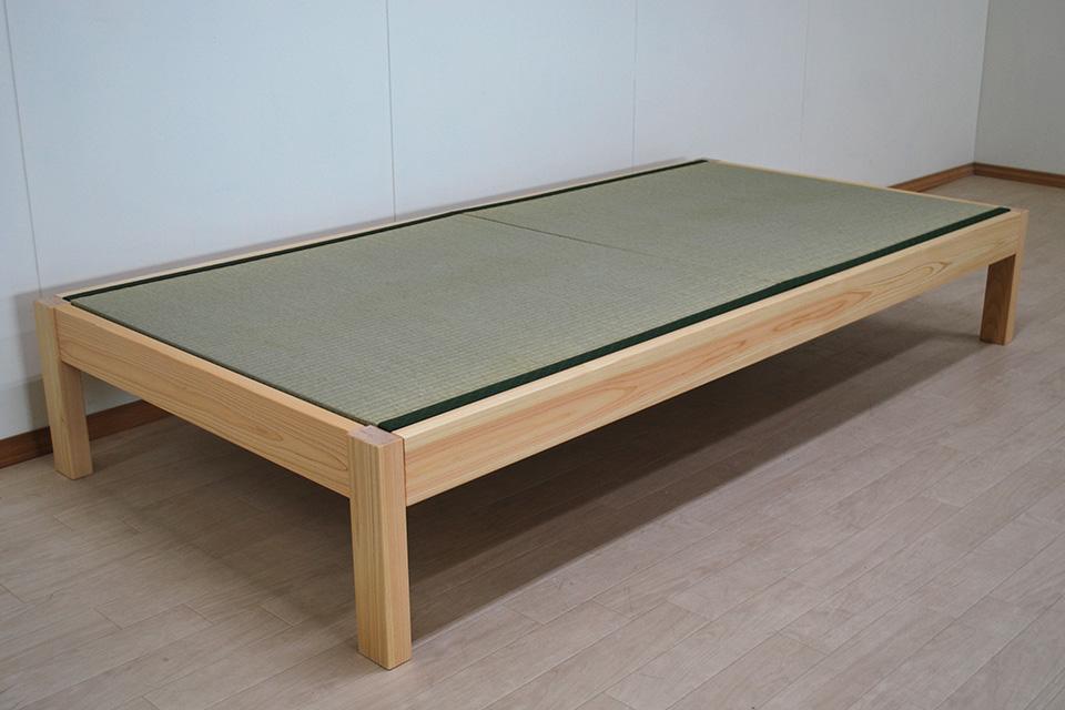 ひのきフラット畳ベッド シングルサイズ 2台ピッタリくっつきます 2103044