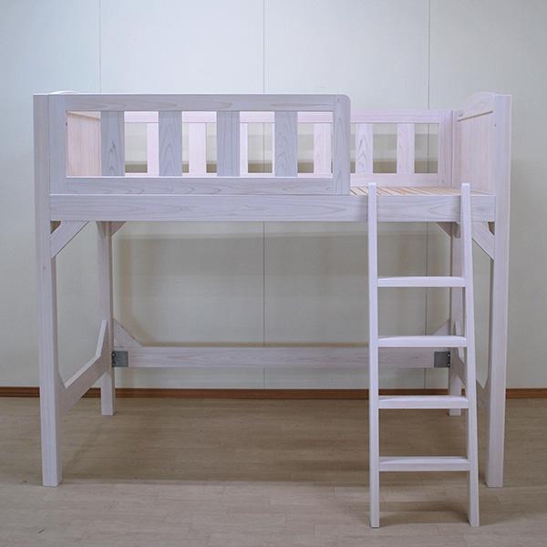 白いロフトベッド 寝台高さ120.5cmベッド下空間110cm 2101008