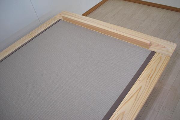 ひのきヘリ付き畳ベッド 和紙畳 寝具が壁につかないようストッパー付き2103069