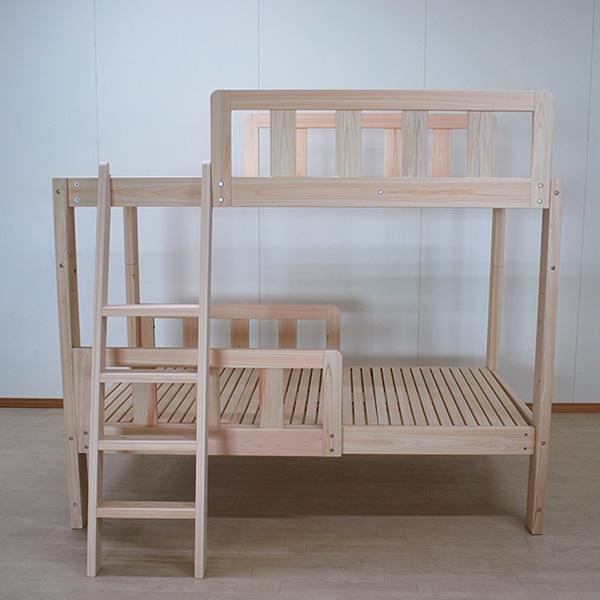 限られた設置場所に出来るだけ寝台部分の長い二段ベッド長さ182cm 2104004