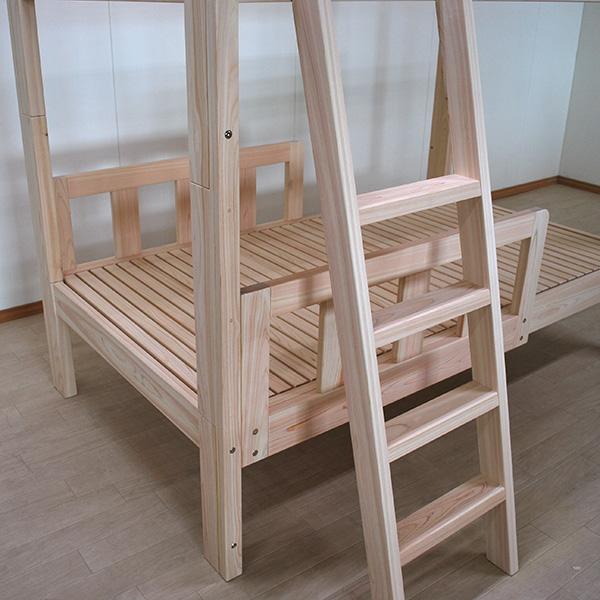 限られた設置場所に出来るだけ寝台部分の長い二段ベッド長さ182cm 2104004 https://www.hinoki-bed.net/orderbed/2021/06/2104004.html 