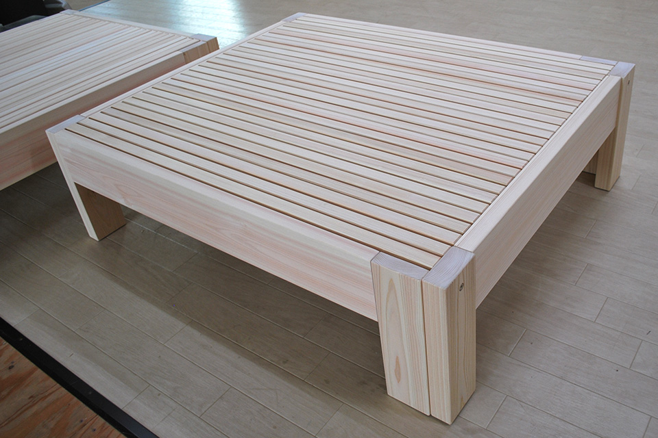 新改良版 長く伸びる ひのき伸長ベッド シングルサイズ 2104043